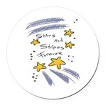 stars n stripes 4 ever copy.jpg Round Car Magnet