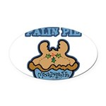 Funny Palin (Moose Berry) Pie.png Oval Car Magnet