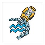 aquarius water symbol.jpg Square Car Magnet 3