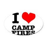 CAMP FIRES.png Oval Car Magnet