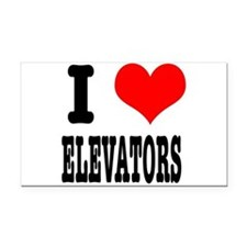 ELEVATORS.png Rectangle Car Magnet