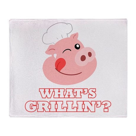 Whats Grillin? Throw Blanket