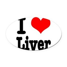 liver.png Oval Car Magnet