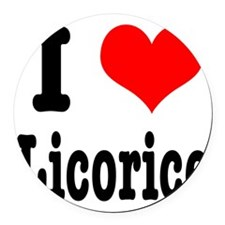 licorice.png Round Car Magnet
