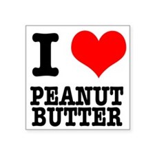 "PEANUT BUTTER.png Square Sticker 3"" x 3"""