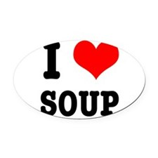 SOUP.png Oval Car Magnet