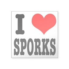 "SPORKS.png Square Sticker 3"" x 3"""