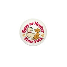 Spay/Neuter Circle (Pets) Mini Button (100 pack)