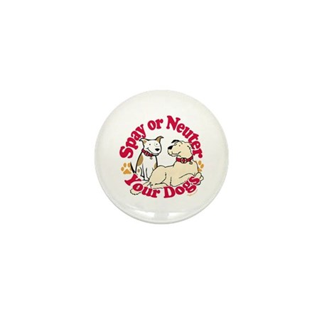 Spay/Neuter Circle (Dogs) Mini Button (100 pack)