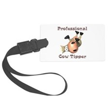 professional cow tipper Luggage Tag