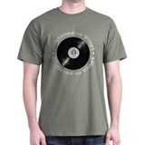 Addicted to vinyl Black T-Shirt