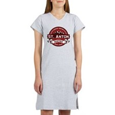 St. Anton Red Women's Nightshirt