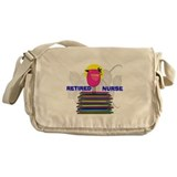 RETIRED NURSE BOOK BIRD.PNG Messenger Bag