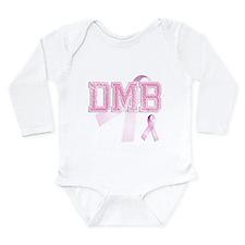 DMB initials, Pink Ribbon, Long Sleeve Infant Body