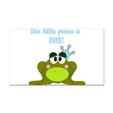 First Birthday Frog Prince Rectangle Car Magnet