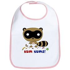 Num Nums! Raccoon Baby Bib