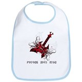 Future Rock Star Grunge Guitar Baby Bib