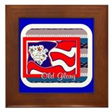 Old Glory Framed Tile