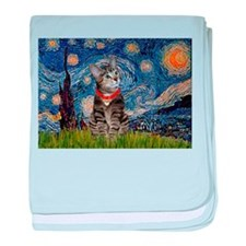 Starry Night / Tiger Cat baby blanket