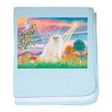 Cloud Angel White Persian baby blanket