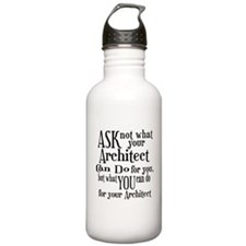 Ask Not Architect Water Bottle