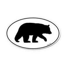 Black Bear Oval Car Magnet
