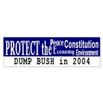Protect the...Dump Bush Bumper Sticker