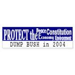 Protect the...Dump Bush Bumper Sticker