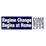 Regime Change Begins at Home Sticker