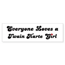 Twain Harte girl Bumper Car Sticker