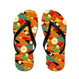 Japanese Orange Flowers Flip Flops