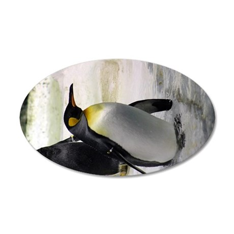 King Penguin 7 35x21 Oval Wall Decal