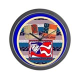 Confederate~Eight Star Wall Clocks