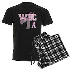WEC initials, Pink Ribbon, Pajamas