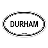 Durham oval Oval Decal