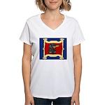 Dachshund Framed by Woman Women's V-Neck T-Shirt