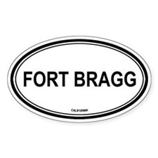 Fort Bragg oval Oval Decal