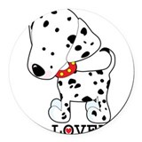 dalmation lover.jpg Round Car Magnet