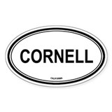 Cornell oval Oval Decal
