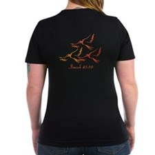 Women's V-Neck Isaiah 41:10 Strength and Courage