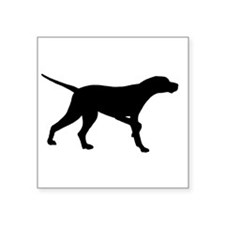 """pointer black.png Square Sticker 3"""" x 3"""""""