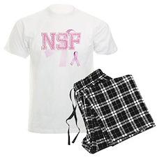 NSF initials, Pink Ribbon, Pajamas