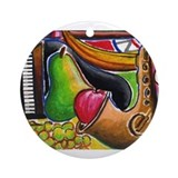Jazz and Dessert Ornament (Round)