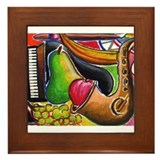 Jazz and Dessert Framed Tile