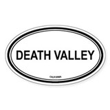 Death Valley oval Oval Bumper Stickers