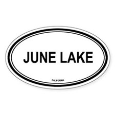 June Lake oval Oval Decal