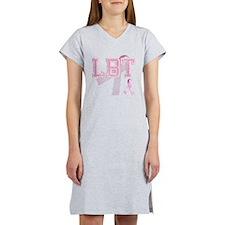 LBT initials, Pink Ribbon, Women's Nightshirt