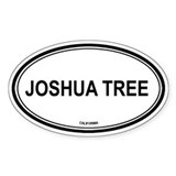 Joshua Tree oval Oval Decal