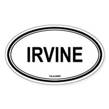 Irvine oval Oval Decal