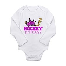 Cute Hockey princess Long Sleeve Infant Bodysuit